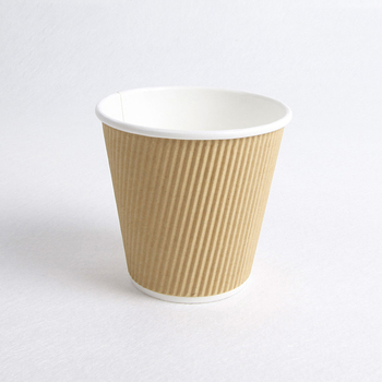 corrugated wall coffee paper cup / kraft ripple coffee paper cup