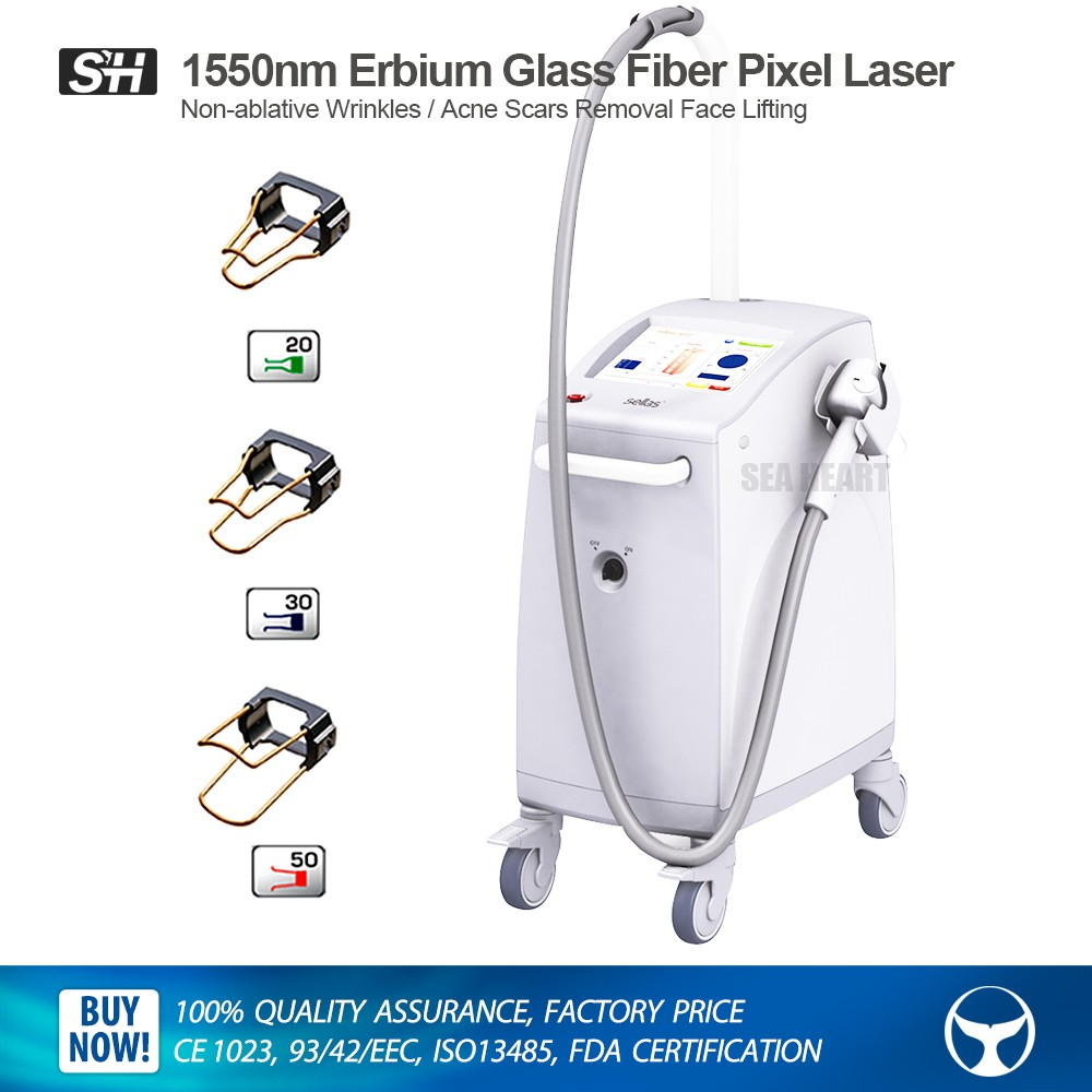2017 Erbium Glass Fractional Fiber laser 1550nm beauty machine for scar Removal