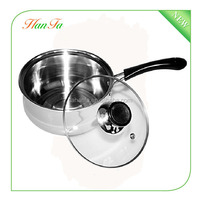 Korean single-handle stainless steel milk boiling pot,large stainless steel pots