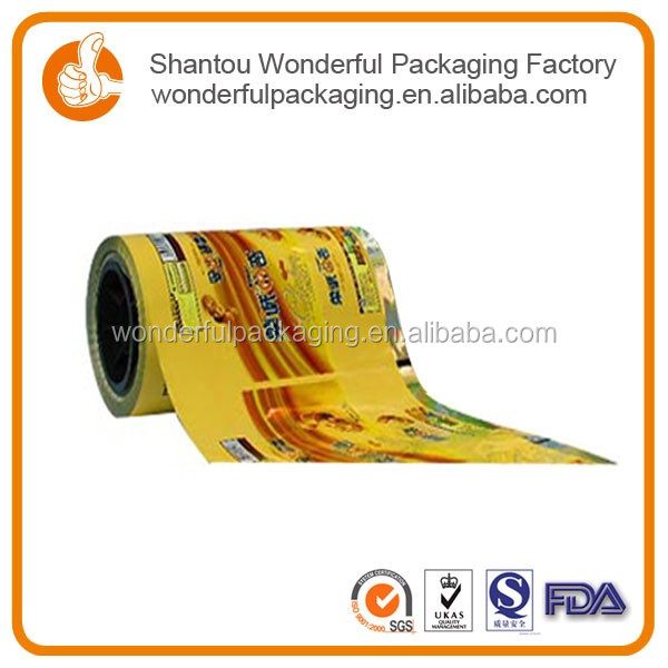 Roll porous plastic film of printing bags for bar