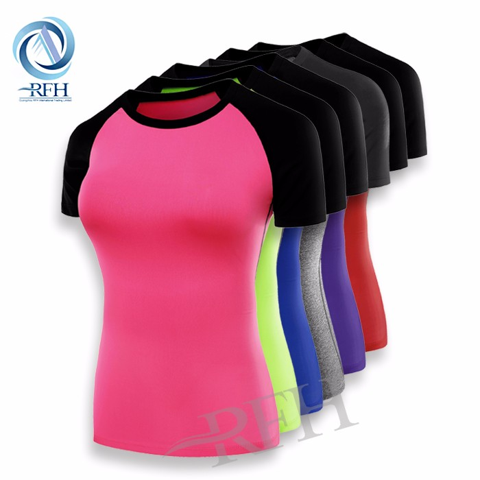 Wholesale Blank fitness gym wear OEM custom t shirt printing shirts for women