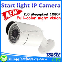 China Manufacturer 2MP Night Vision Color Pictures H265 Starlight ip camera outdoor, cctv camera