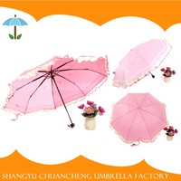 Excellent Material Windproof Pretty Pink Umbrella