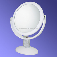 Silver Makeup Mirror Free Standing Table