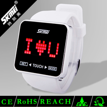 Skmei colorful unisex 3atm waterproof silicone band LED watch #0950