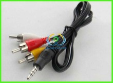 mini 3.5mm to 3 RCA AV A/V TV Video Cable/Cord/Lead For Android Tablet EReader