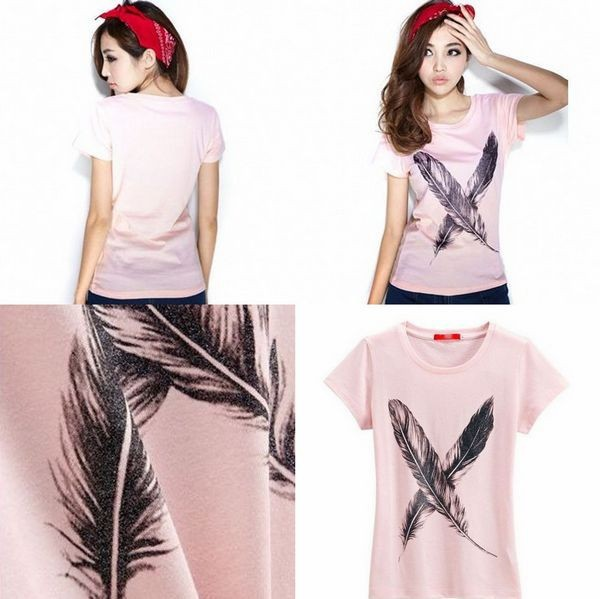 2015 new trendy printed t shirt design top fashion sweet girl's t shirt