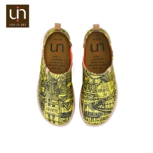 UIN digital printing Paris Sketches custom screen new model boys stylish casual shoes popular male printed canvas shoes
