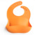 BPA Free Wipes Clean Waterproof Soft Silicone Baby Bibs, Baby Gift