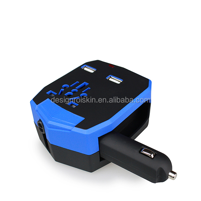 World travel dual usb universal travel adapter with USA worldwide <strong>plug</strong>
