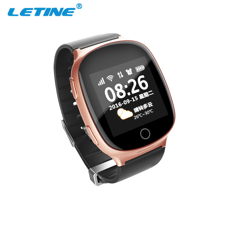 2017 Wifi fall down alarm heart rate smart watch touch screen GPS 2G GSM elderly smart <strong>phone</strong> watch <strong>D100</strong>