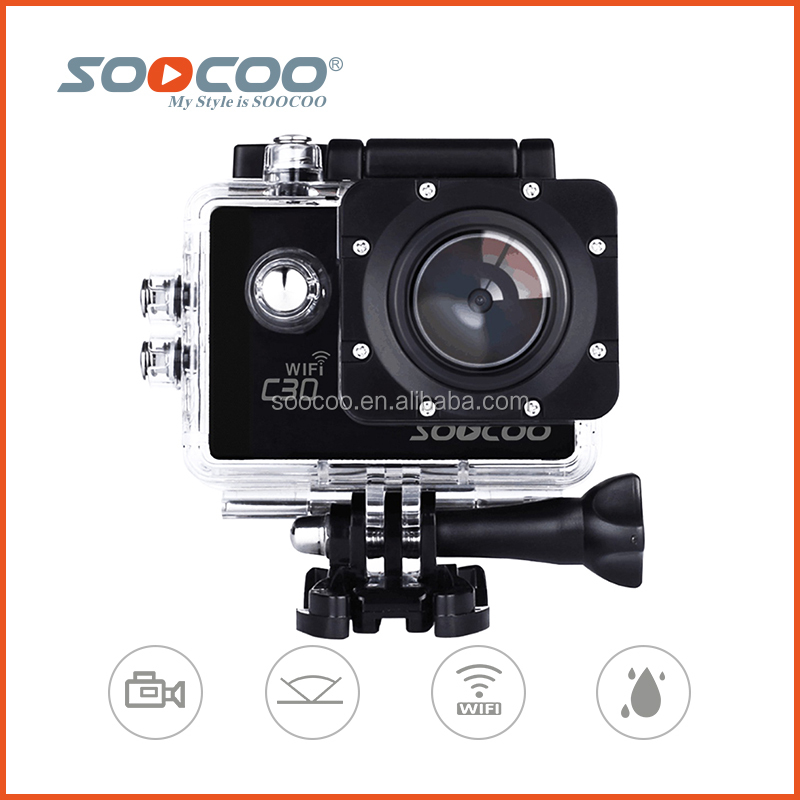 SOOCOO C30 30M Waterproof 2.0 Inch 20MP 70-170 Degree Wide-angle Ultra HD 4K Mini Wifi Camera