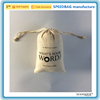 Natural Jute small drawstring bag for bean with company LOGO
