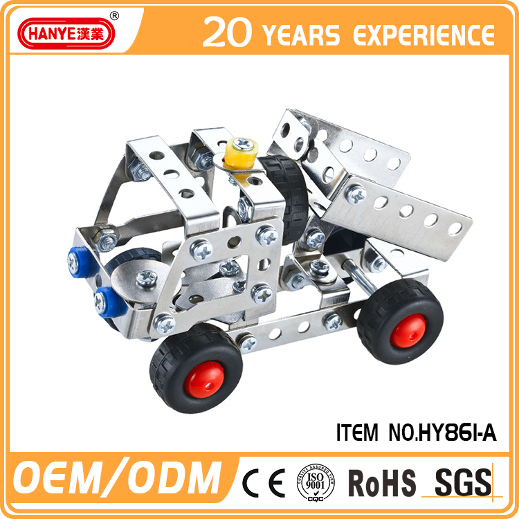 HY861-A Customized eco-friendly diecast car models building blocks toys model car