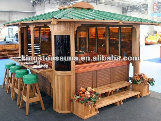 gazebo jardim madeira:De madeira Do Jardim Gazebo Banheira de Água Quente/Pavilion KGT-G11