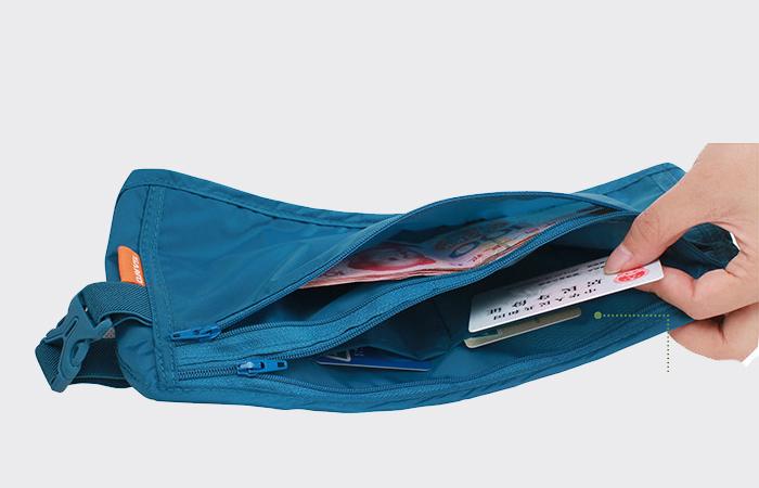 China wholesale lightweight security money belt nylon passport traveling waist bag