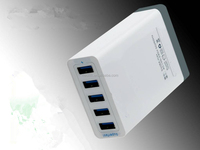 2015 Wholesale New High speed 5V 8A family 5-Port USB charger
