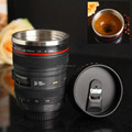Camera lens self stirring lens coffee mug