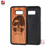 Best selling design wood phone case for Samsung S8, engrave design mobile case wood mobile accessories for samsung note 8