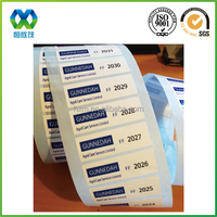 Custom high quality barcode sticker roll with serial number,serial number sticker