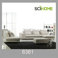 2014 new design fashion Living Room Furniture Fabric Sofa Set with ottoman