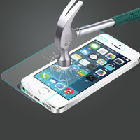 2014 New Arrivel Color tempered glass screen protector for iPhone 5 / 5c / 5s screen protector oem/odm (Glass Shield)