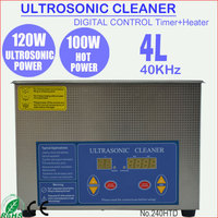 120W 4L Stainless Steel Digital Ultrasonic Glasses Cleaner with Time+Heater 240HTD