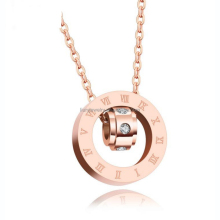 Roman Numerals circle pendant choker necklace girl stainless steel smart jewelry necklace gold