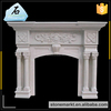 Modern design indoor used free standing white marble fireplace mantel