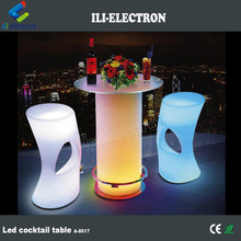 Night Club LED Bar Table with Glass Top, with Ice Bucket/ Flower Pot
