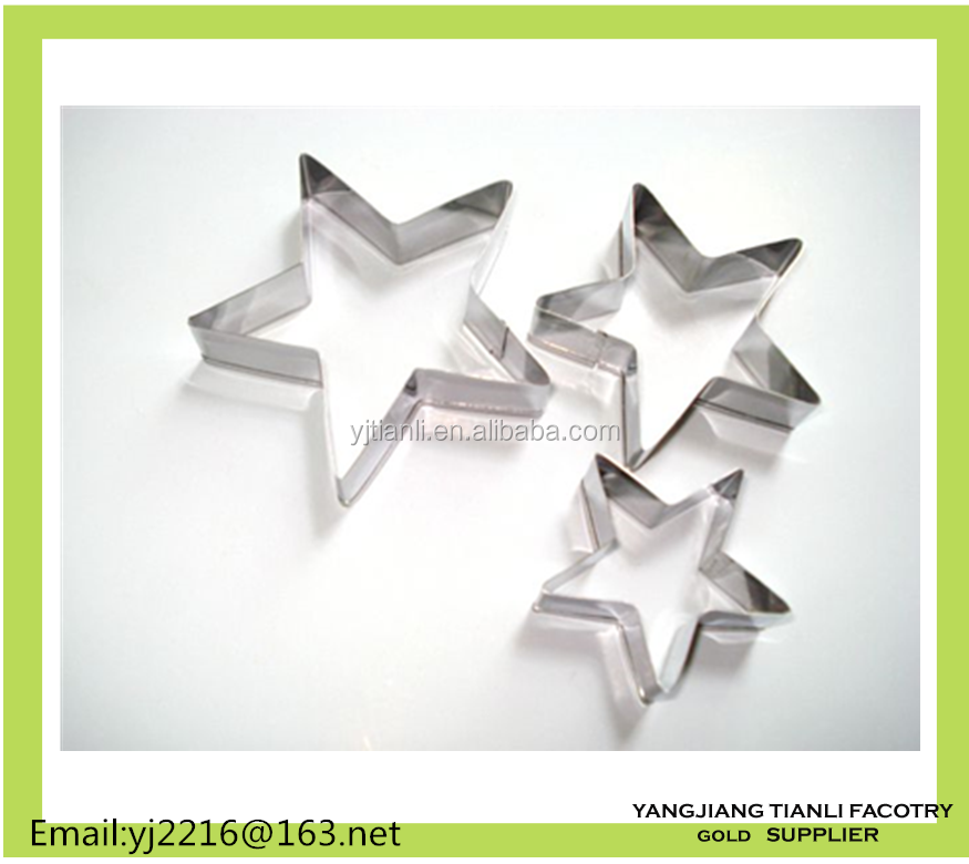 Stainless steel star shape cupcake molds bakeing mould set