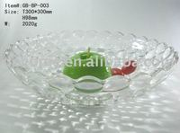 crystal glass fruit tray dishware