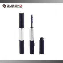 Double head cosmetic color plastic mascara container