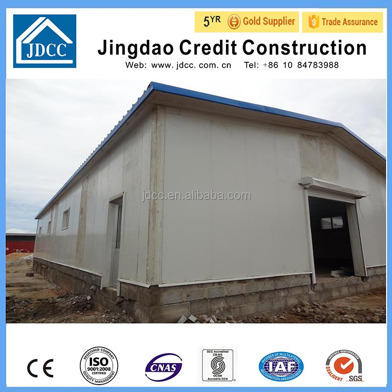 Faible co t structure en acier entrep t pr fabriqu maisons pr fabriqu es id - Cout construction hangar ...