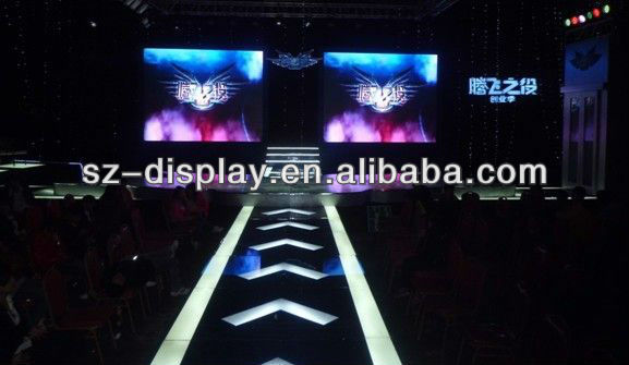 P4 Indoor 2500nits Brightness Slim Profile Stage LED Screens For Backgroun In TV Station