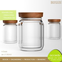 Eco New Heat-Resistant Superior Quality Borosilicate Mason Glass Jar