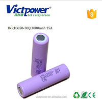 Lithium ion battery INR18650-30Q 3000mah rechargeable battery 3.6V 3000mah 18650 power battery for samsung