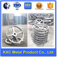 Custom round hole hand wheel casting for valves