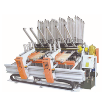 Hydraulic composer clamp carrier for wood board