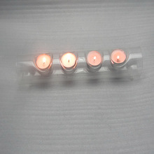 wholesale hand blown glass tube conjoined candle holders for wedding