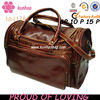 cheap brown leather duffle bag