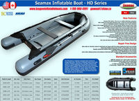Seamax Inflatable Boat HD Series with PVC or Hypalon Material