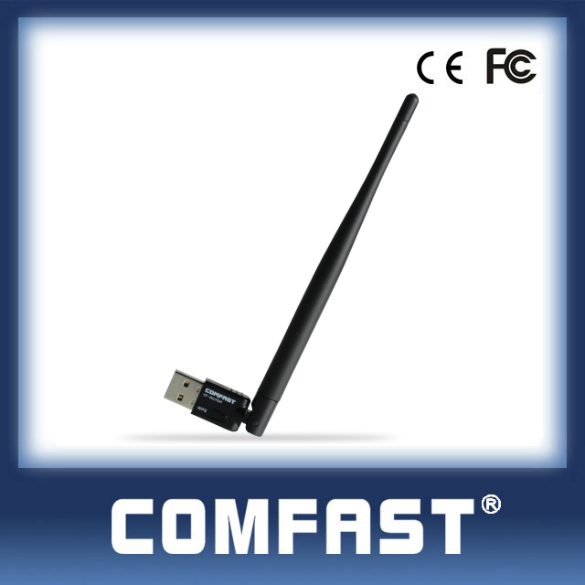 COMFAST CF-WU755P 150Mbps Alibaba Gold Supplier Wifi Adapter Wall Through Antenna USB Wifi