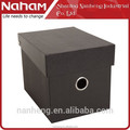 NAHAM brown kraft collapsible stackable cardboard paper storage boxes