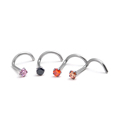 Women fashion accessories stainless steel nose ring diamond wholesale