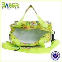 New fashion cute triangle ziplock cooler bag with tote hand