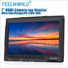 FEELWORLD 7 inch IPS 1280x800 resolution 1080p lcd field monitor with hdmi av input