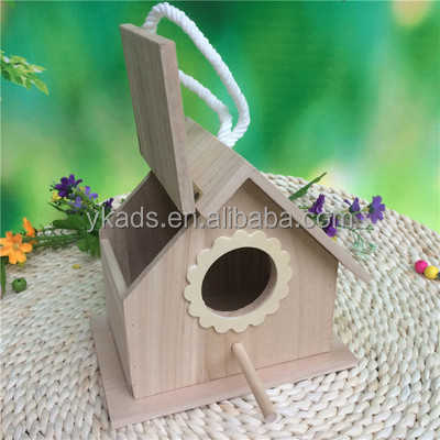 Customised wooden bird cages for finches