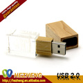 Logo Custom Wooden Crystal Stick USB Flash Memory 4GB