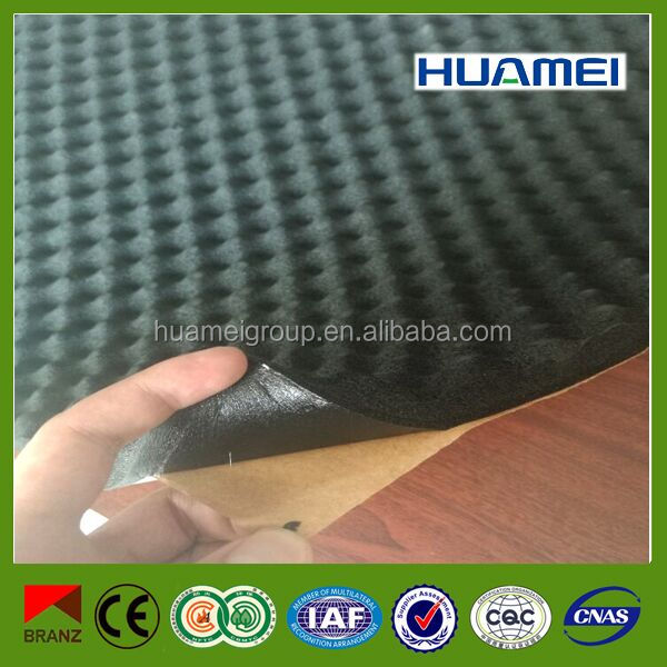 self adhesive sound insulation rubber foam acoustic panel